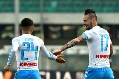 Chievo-Napoli 1-3, decidono Insigne Hamsik e Zielinski
