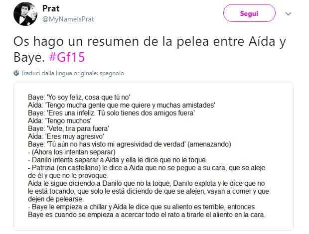 Grande Fratello, la rissa fra Baye Dame e Aida arriva anche in Spagna