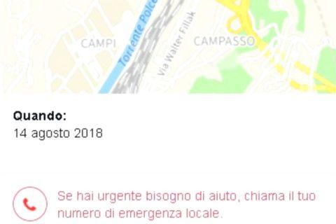 Genova, su Fb il Safety Check