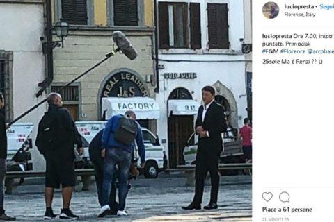 Primo ciak a Firenze per il docufilm di Renzi