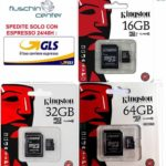 MICROSD KINGSTON 16GB 32GB 64GB SCHEDE DI MEMORIA PER SMARTPHONE SAMSUNG CL10 SD…