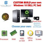 FULL DELL INTEL QUAD CORE DESKTOP TOWER PC & TFT COMPUTER , WINDOWS 10 &…