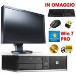 POSTAZIONE COMPLETA PC COMPUTER QUAD CORE 4GB 500GB WIFI MONITOR SCHERMO 22″  EU…