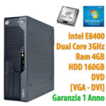 PC COMPUTER DESKTOP RICONDIZIONATO FUJITSU E5730 DUAL CORE 4GB 160GB WINDOWS 7