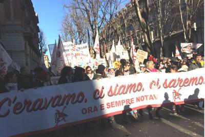 Al va corteo No Tav a Torino
