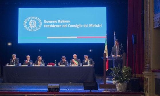 Premier Conte a Potenza: strade, recupero di immobili e Zes le richieste dei sindaci lucani