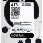 WD WD4003FZEX Hard Disk Desktop Performance, 7200 RPM, SATA 6 GB/s, 64 MB Cache, 3.5″, 4 TB, Nero