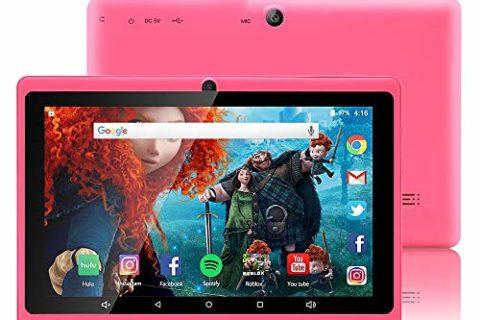 Tablet da 7 Pollici Google Android 8.1 Quad Core 1024×600 Dual Camera Wi-Fi Bluetooth 1GB/8GB Play Store Netfilix Skype 3D Game GMS Supportato con Certificazione di un Anno di Garanzia (Rosa)