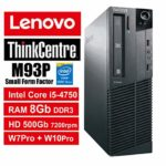 PC Lenovo ThinkCentre M93P SFF – Core i5-4570, RAM 8Gb, HDD 500Gb 7200rpm, DVDRW, Windows 7 Pro + Windows 10 Pro UpGrade (Ricondizionato) (M93P 8Gb)