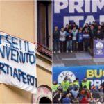 La doppia piazza di Milano: i sovranisti di Salvini e la protesta degli striscioni, 600 agenti schierati per la sicurezza
