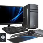 PC DESKTOP INTEL QUAD CORE 2.0GHZ WINDOWS 10 PROFESSIONAL 64 BIT CASE ATX/RAM 8GB/HD 1TB/WIFI/HDMI DVI VGA POWER 500W + MONITOR 19″ LED VGA TASTIERA E MOUSE USB CASSE AUDIO COMPLETO