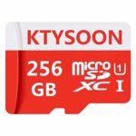 KTYSOON Scheda di Memoria MicroSDXC da 256 GB e Adattatore,Classe 10