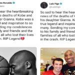 """""""Addio Kobe"""", Luis Figo 'copia' Cristiano Ronaldo"""