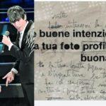 Sanremo, Morgan mette all'asta il foglio originale con le modifiche alla canzone di Bugo