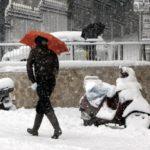 Meteo pazzo: pioggia, neve e sole