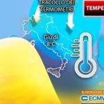 Meteo, temperature a picco