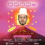 Bbno$  Il concerto di Bbno$ previsto per il 9 novembre 2020 in Santeria Toscana …